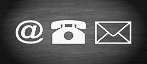 Brief Telefon eMail Symbole